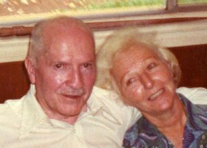 Robert and Ginny Heinlein in Tahiti 1980, taken by Hayford Peirce